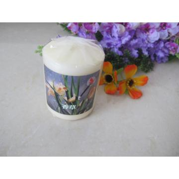 Scented White Colour Pillar Candle