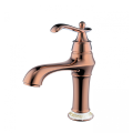 Rose gold single lever vintage basin faucet