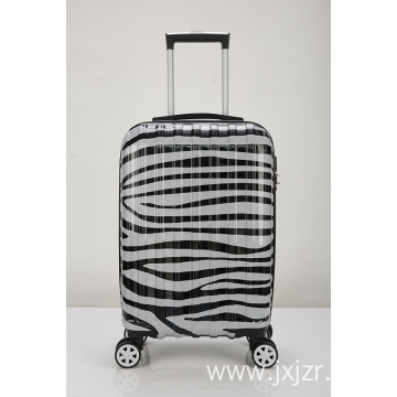 ABS with PC trolley case Zebra suitcase