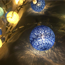 Bateri Powered LED Cotton Ball String Lights