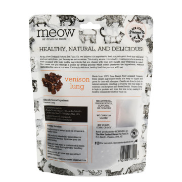 Pet Dog Food Biodegradable Bag With Resealable Zipper