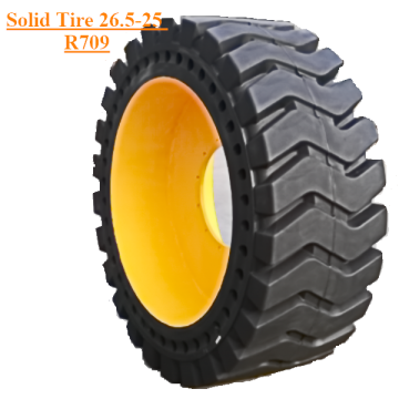 Solid Skid Steer Tyre Dengan Rims FB26.5-25 R709