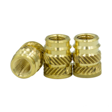 Fastener M4-M20knurled threaded insert brass nut