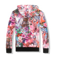 Custom sublimation printed colorful hoodie women tracksuit