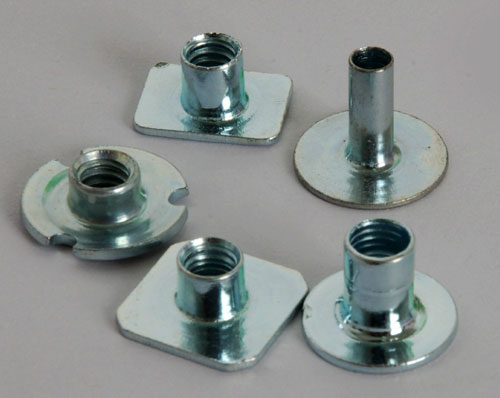 Round base carbon steel pallet nuts