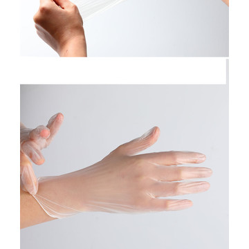Safety Disposable Transparent PVC Hand Gloves