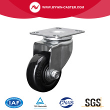 Light 2.5 Inch 70Kg Plate Swivel PU Caster