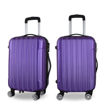 Spinner wheeled ABS luggage trolley bags