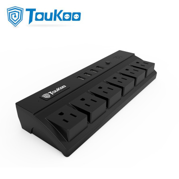 6 Gang Power Strip 4 USB Ports