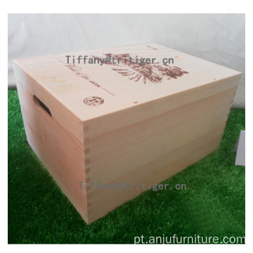 high quality classic custom design packaging handmade solid red wine box
