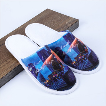 view pattern hotel slippers