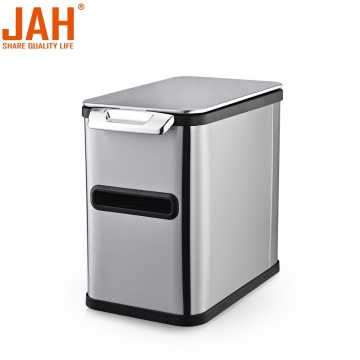 JAH 430 Stainless Steel Hand Press Garbage Bin