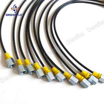 Black Resin rubber Pressure test hose