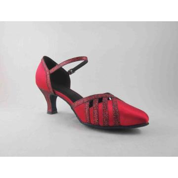 Girls red ballroom shoes IA