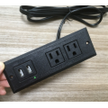 Safety 2 Sockets Recessed Power Outlet