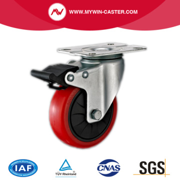 63mm Swivel Industrial PU Caster with PP Core With Brake
