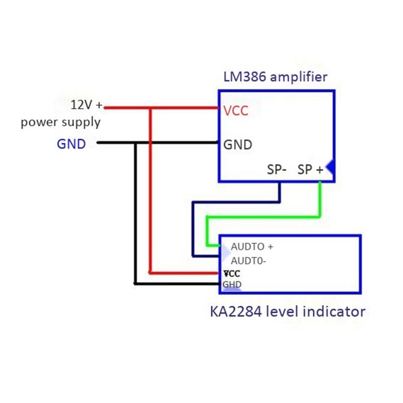 5W Mini Electronic Transparent Speaker Box DIY Kit Sound Amplifier Music o with US Plug