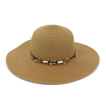 Summer straw hat bucket beach sun face shield