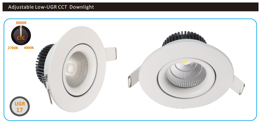 8W CCT anti-glare dimmable led downlight
