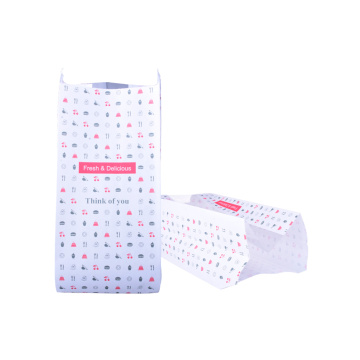 Reusable Block Bottom Burger Paper Bag Flat Bottom
