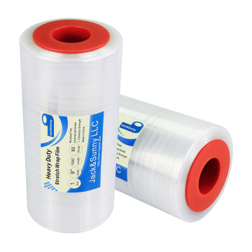 "Clear Pallet Wrap with Hand Saver Wholesale 9""x1000'x80gauge"