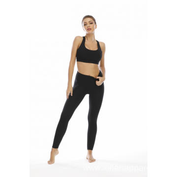 Custom Logo Women High Waist Yoga Set Suit