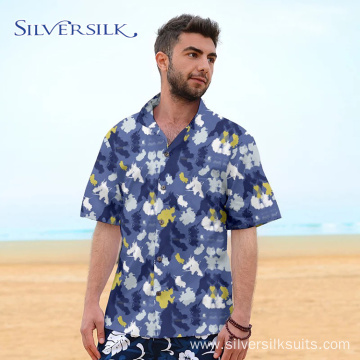 Casual Colorful Summer Short Printing Men Shirt Vietnam