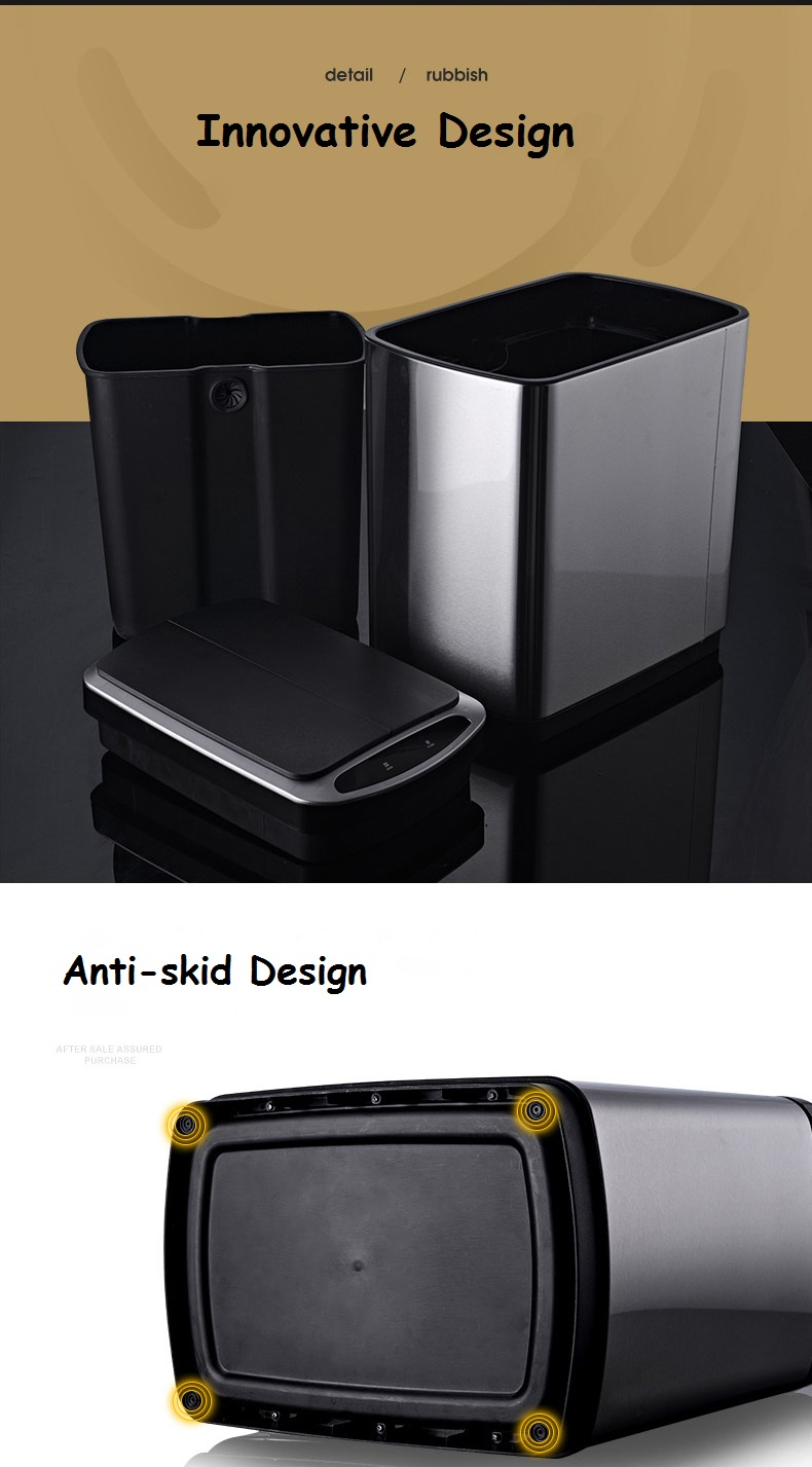 430 stainless steel dustbin with innovational design