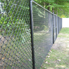 Chain link wire temporary fence construction sites