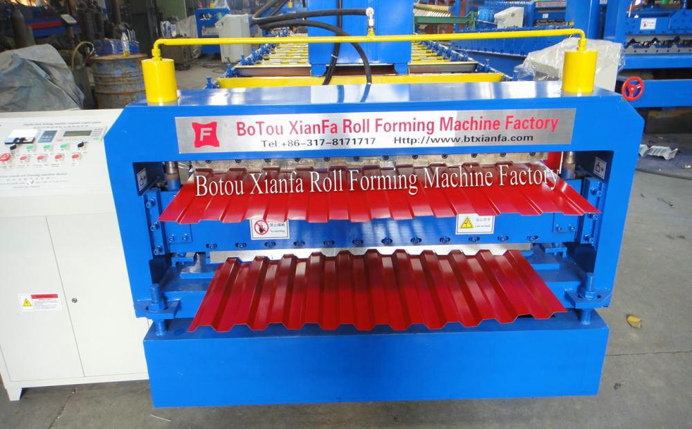 Russian style Double Deck roll forming machine