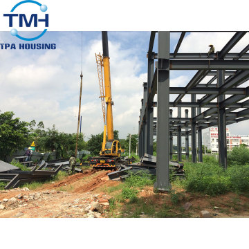prefabricated two storey steel structure warehouse drawings