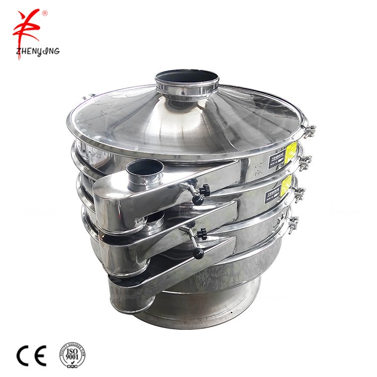 Cassava starch sieving machine mini vibration screener
