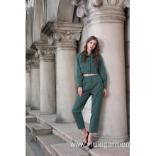 Women's Green Army Jacket and Trousers