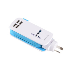 International Travel USB Charger with 4 Port
