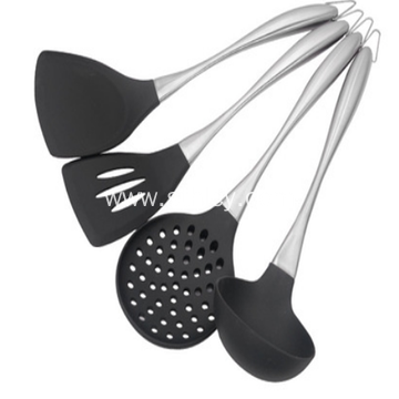 304 Silicone Shovel Stainless Steel Silicone Kitchenware