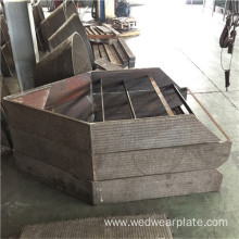 Coal Power bimetallic wear plate