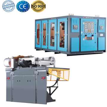 Aluminum melting medium frequency induction furnace for sale