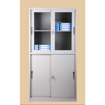 glass sliding door office storage cupboard