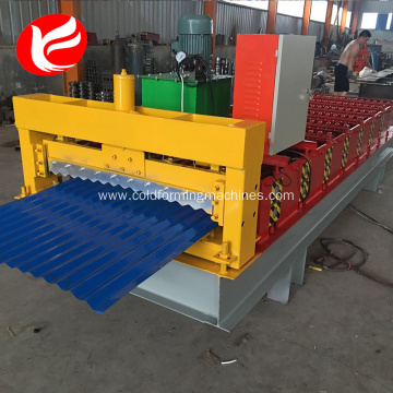 Roof corrugated cold color steel roll forming machine