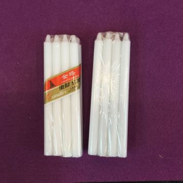 Handmade Paraffin Wax Stick White Candle Velas