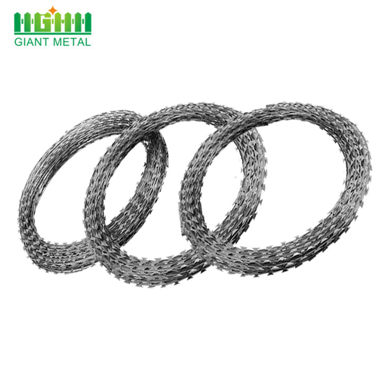 BTO-22 Type Security Galvanized Concertina Razor Barbed Wire