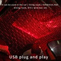 2020 new ROOM product will automatically rotate full Star USB Starry night light for car interior atmosphere lamp