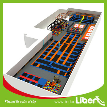 Indoor big adult trampoline park cost