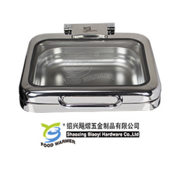 Square Built in Chafing Dish Chafer Induction Buffet