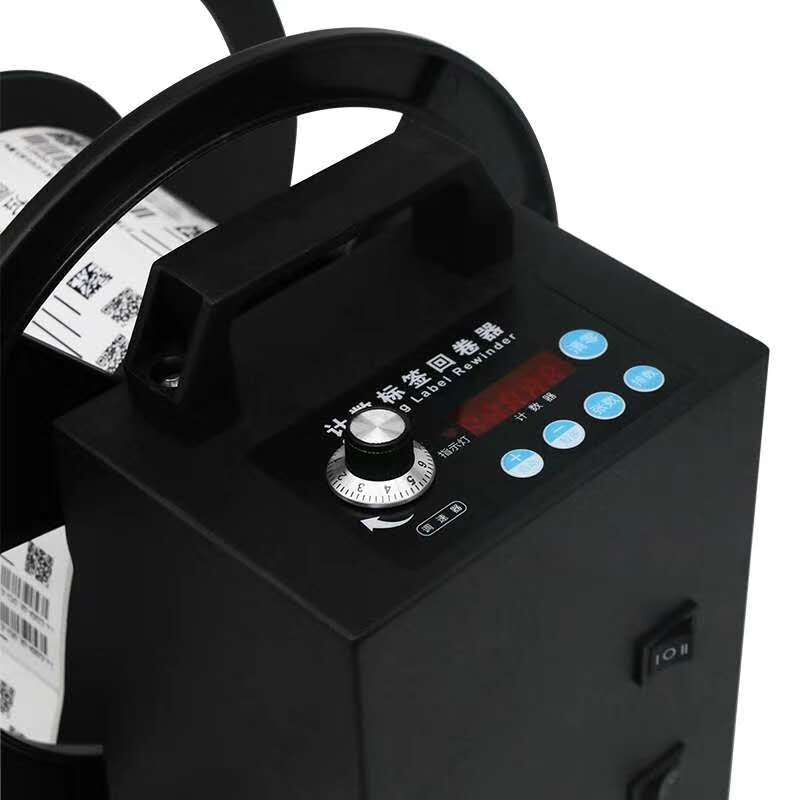 Automatic external label rewinder