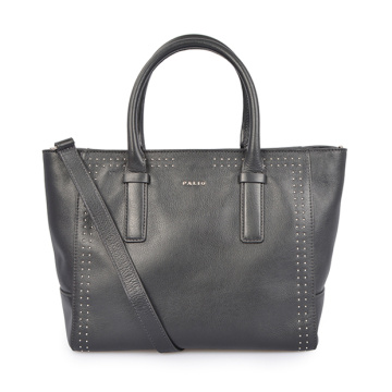 Leather Work Bag For Women Laptop Tote Black