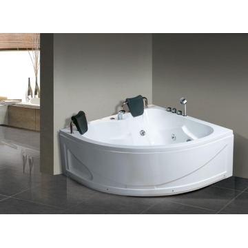 Double Deluxe Massage Bathtub Small Corner Tub
