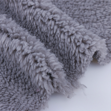 Grey Velveteen Fleece Sherpa Fabric