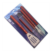 Stainless Steel Barbecue Tools Set With Blister Packaging