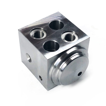 Steel CNC Machined Manifold Block for Hydraulic Cylinders